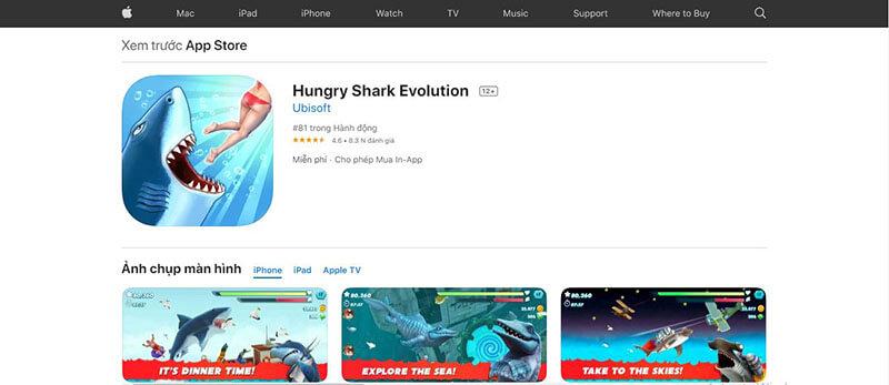 hungry shark ios