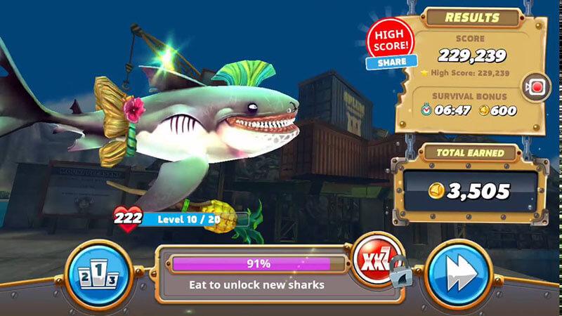 huong dan choi hungry shark